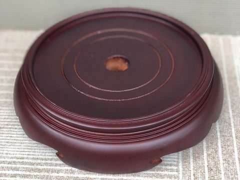 Chân đế gỗ bát hương 2 mặt phi 14cm
