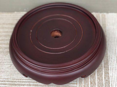 Chân đế gỗ bát hương 2 mặt phi 20cm