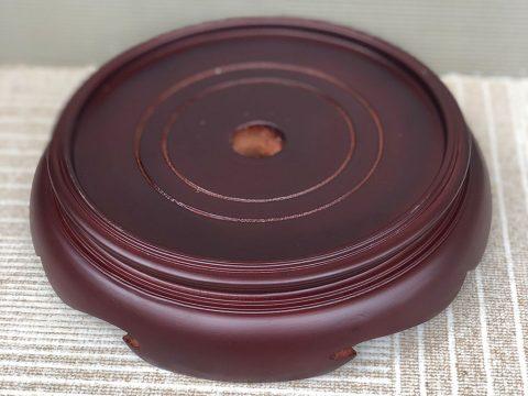 Chân đế gỗ bát hương 2 mặt phi 25cm