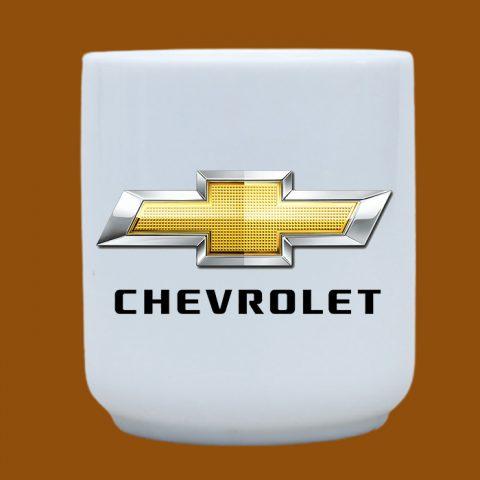 Ly sứ trắng in logo Chevrolet