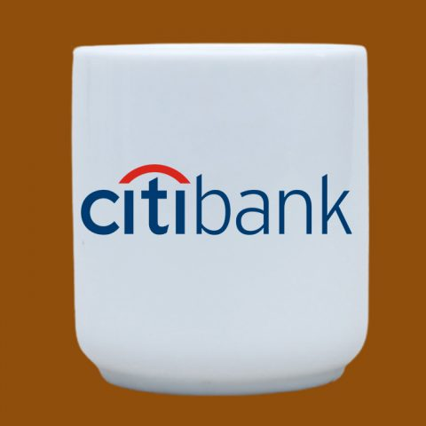 Ly sứ trắng in logo Citibank