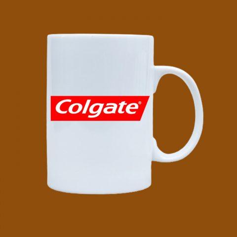 Ly sứ trắng in logo Colgate