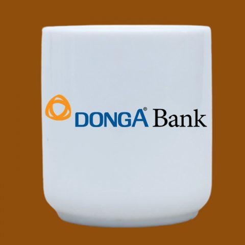 Ly sứ trắng in logo Đông Á Bank