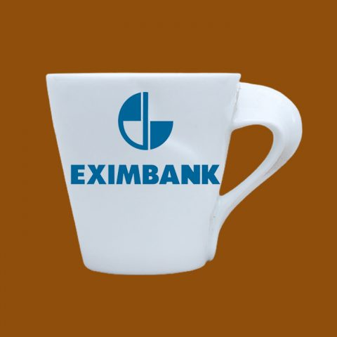Ly sứ trắng in logo Eximbank