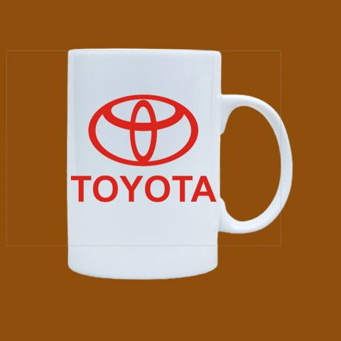 Ly sứ trắng in logo Toyota