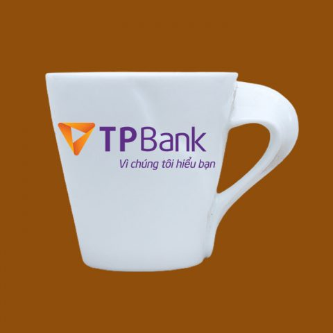 Ly sứ trắng in logo TP Bank
