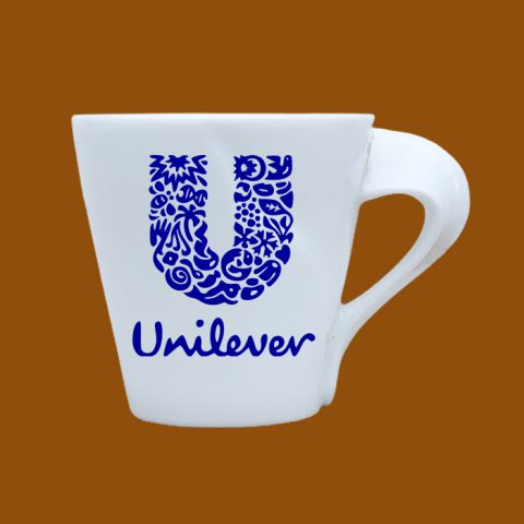 Ly sứ trắng in logo Unilever