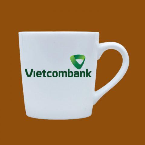 Ly sứ trắng in logo Vietcombank