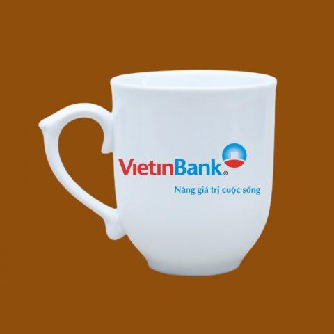 Ly sứ trắng in logo VietinBank