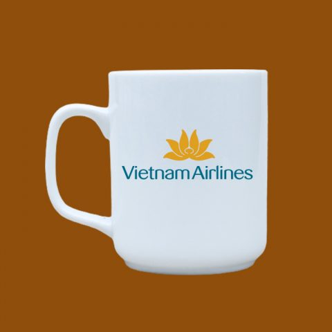 Ly sứ trắng in logo Vietnam Airlines