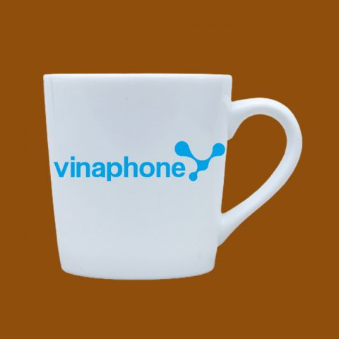Ly sứ trắng in logo Vinaphone