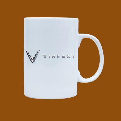 Ly sứ trắng in logo VinFast
