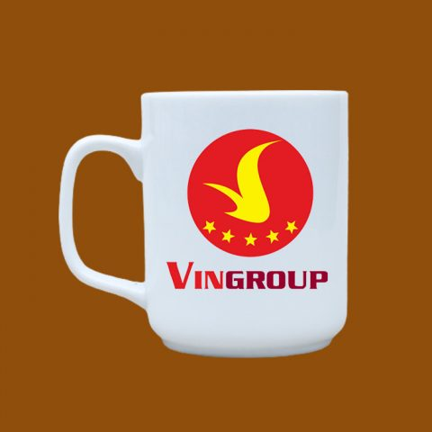 Ly sứ trắng in logo Vingroup