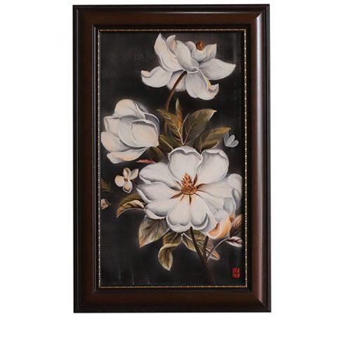Tranh sứ vẽ hoa kích thước 95x65cm