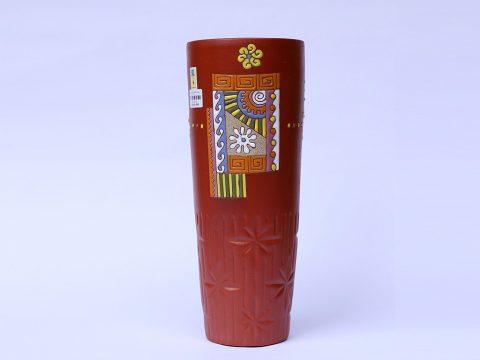 Lọ hoa gốm Bát Tràng dáng cốc số 1 cao 37cm