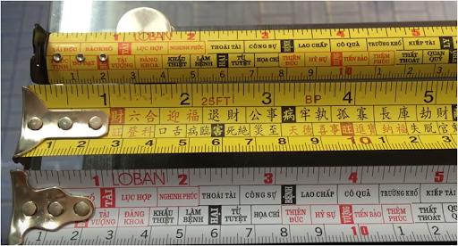 Những loại thước lỗ ban đúng chuẩn